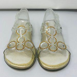 STUART WEITZMAN**Rubber Embellished Sandals US 1